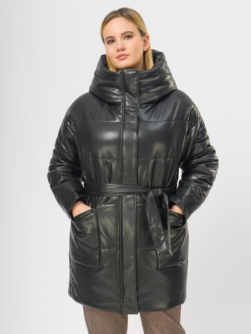 Кожаное пальто артикул 18109157/48 - фото 2