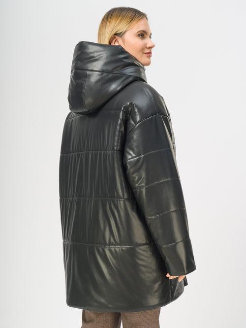Кожаное пальто артикул 18109157/48 - фото 3