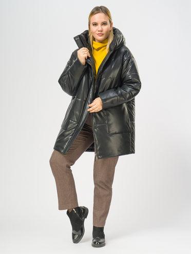 Кожаное пальто эко-кожа 100% П/А, цвет черный, арт. 18109157  - цена 7990 руб.  - магазин TOTOGROUP