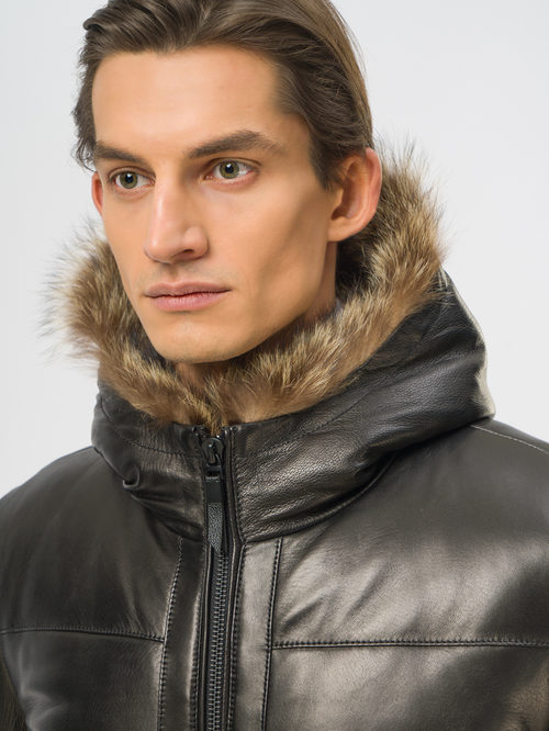 Кожаная куртка артикул 18109159/48 - фото 4