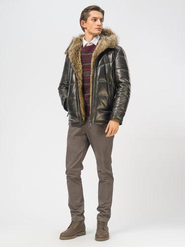 Кожаная куртка кожа, цвет черный, арт. 18109159  - цена 29990 руб.  - магазин TOTOGROUP