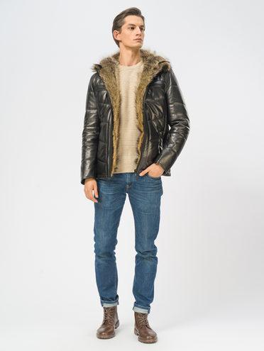 Кожаная куртка кожа, цвет черный, арт. 18109160  - цена 29990 руб.  - магазин TOTOGROUP