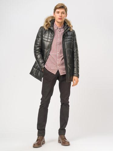 Кожаная куртка кожа, цвет черный, арт. 18109163  - цена 21290 руб.  - магазин TOTOGROUP