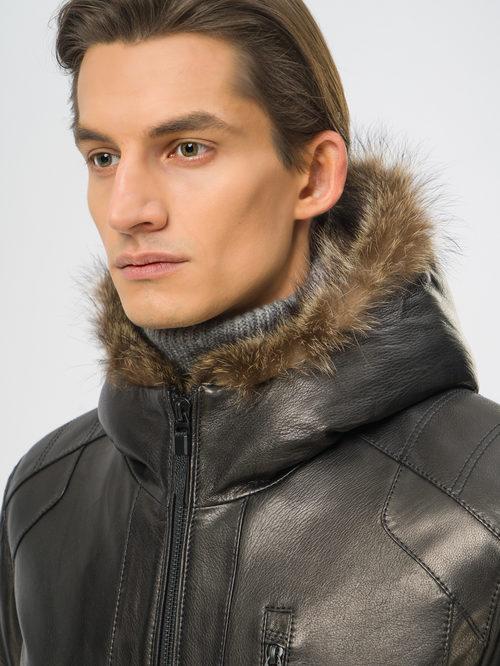 Кожаная куртка артикул 18109164/48 - фото 4