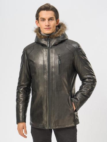 Кожаная куртка кожа, цвет черный, арт. 18109164  - цена 29990 руб.  - магазин TOTOGROUP
