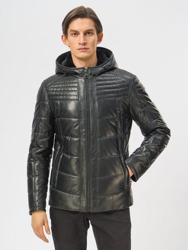 Кожаная куртка кожа, цвет черный, арт. 18109165  - цена 19990 руб.  - магазин TOTOGROUP