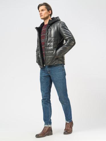 Кожаная куртка кожа, цвет черный, арт. 18109166  - цена 19990 руб.  - магазин TOTOGROUP