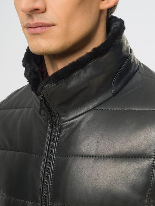 Кожаная куртка артикул 18109168/48 - фото 4