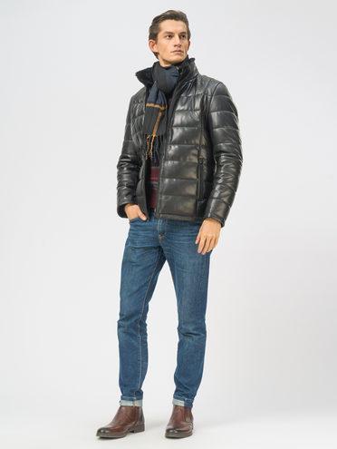 Кожаная куртка кожа, цвет черный, арт. 18109168  - цена 19990 руб.  - магазин TOTOGROUP