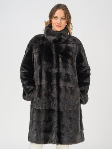 Шуба мех норка крашен., цвет черный, арт. 18109170  - цена 59990 руб.  - магазин TOTOGROUP