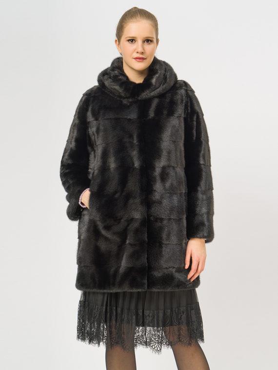 Шуба из норки мех норка, цвет черный, арт. 18109177  - цена 75990 руб.  - магазин TOTOGROUP
