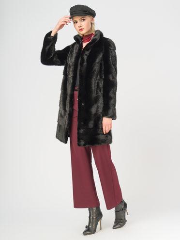 Шуба из норки мех норка, цвет черный, арт. 18109191  - цена 44990 руб.  - магазин TOTOGROUP