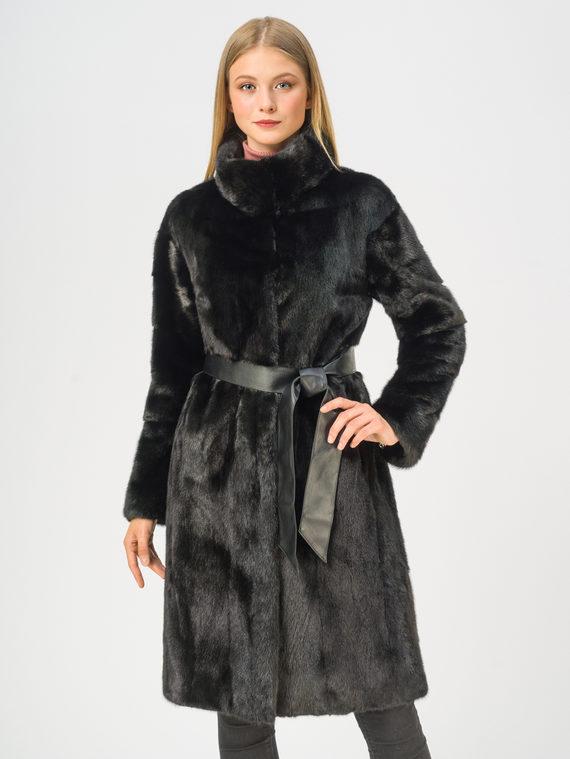 Шуба из норки мех норка, цвет черный, арт. 18109193  - цена 63990 руб.  - магазин TOTOGROUP