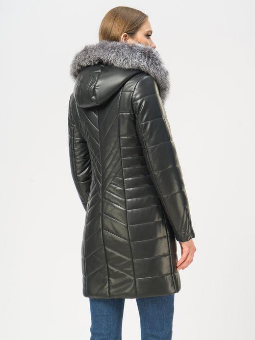 Кожаное пальто артикул 18109296/46 - фото 3