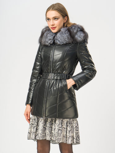 Кожаная куртка эко-кожа 100% П/А, цвет черный, арт. 18109297  - цена 14190 руб.  - магазин TOTOGROUP
