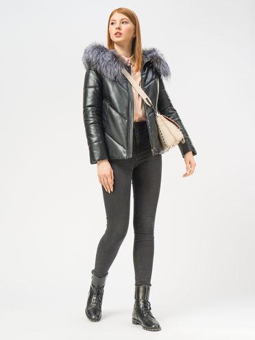 Кожаная куртка эко-кожа 100% П/А, цвет черный, арт. 18109343  - цена 11990 руб.  - магазин TOTOGROUP