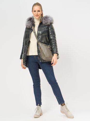 Кожаная куртка эко-кожа 100% П/А, цвет черный, арт. 18109362  - цена 11990 руб.  - магазин TOTOGROUP