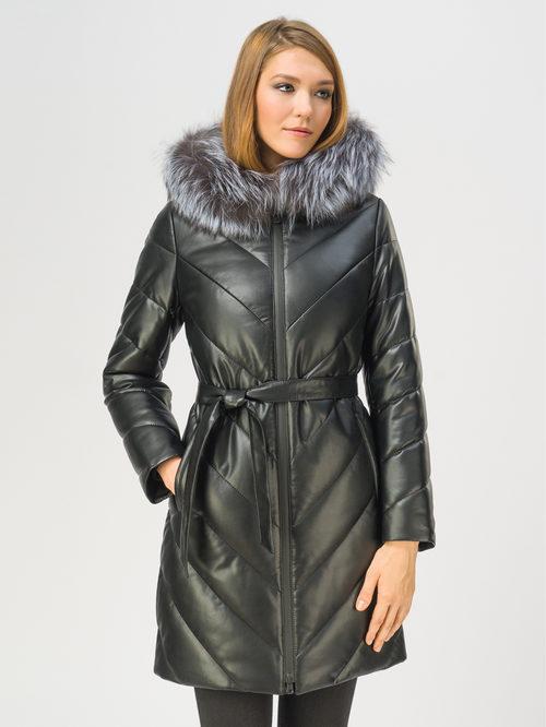 Кожаное пальто артикул 18109363/42 - фото 2