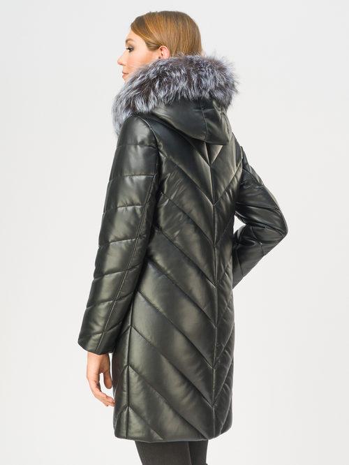 Кожаное пальто артикул 18109363/42 - фото 3