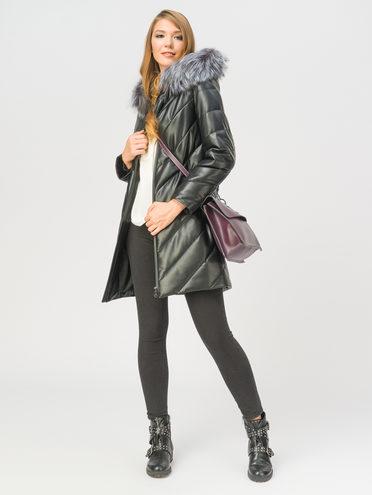 Кожаное пальто эко-кожа 100% П/А, цвет черный, арт. 18109363  - цена 9990 руб.  - магазин TOTOGROUP