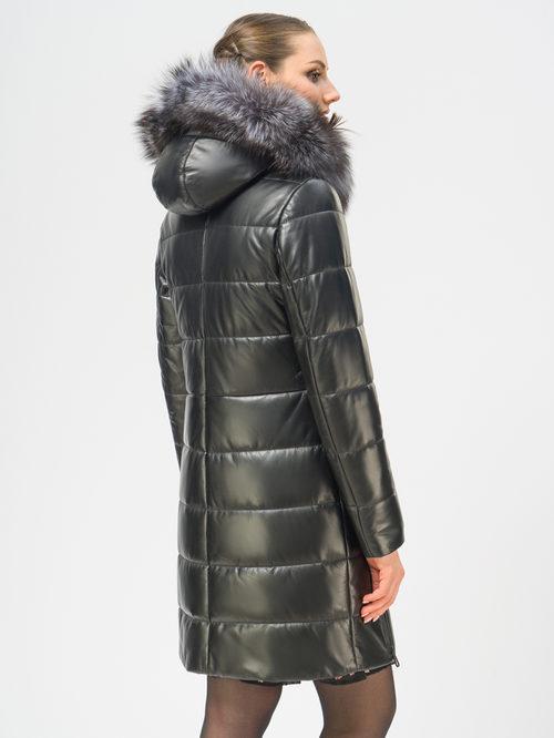Кожаное пальто артикул 18109364/42 - фото 3