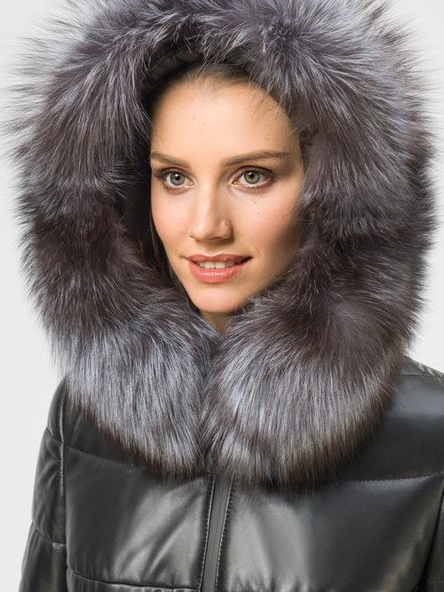 Кожаное пальто артикул 18109364/42 - фото 4