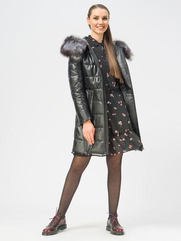 Кожаное пальто кожа, цвет черный, арт. 18109364  - цена 19990 руб.  - магазин TOTOGROUP
