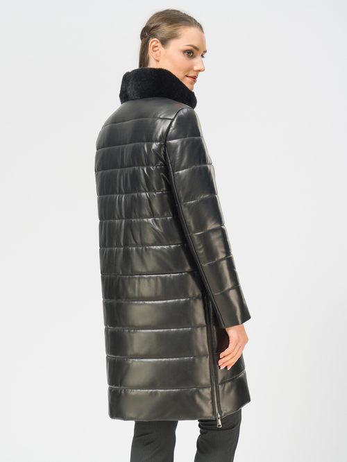 Кожаное пальто артикул 18109365/48 - фото 3