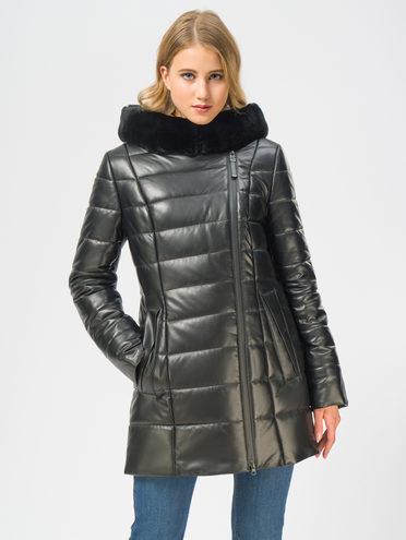 Кожаная куртка кожа , цвет черный, арт. 18109368  - цена 22690 руб.  - магазин TOTOGROUP
