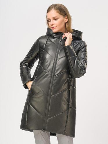 Кожаное пальто кожа, цвет черный, арт. 18109369  - цена 16990 руб.  - магазин TOTOGROUP