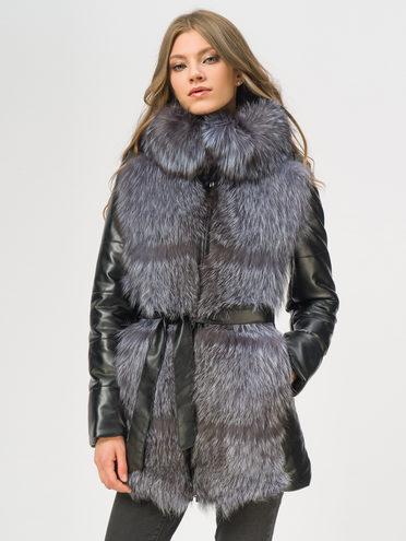 Кожаная куртка эко-кожа 100% П/А, цвет черный, арт. 18109370  - цена 18990 руб.  - магазин TOTOGROUP