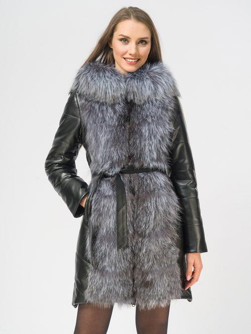 Кожаное пальто артикул 18109371/42 - фото 2