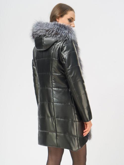 Кожаное пальто артикул 18109371/42 - фото 3