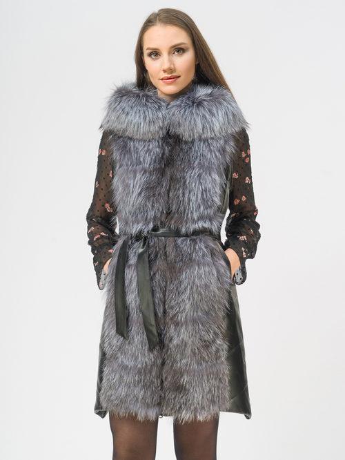 Кожаное пальто артикул 18109371/42 - фото 4