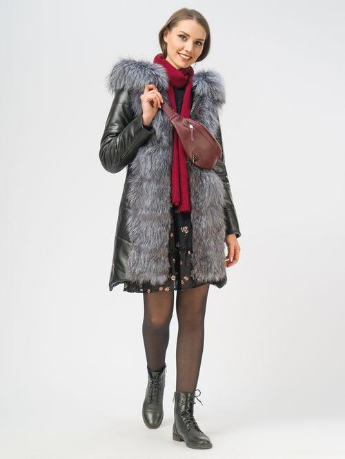 Кожаное пальто артикул 18109371/42