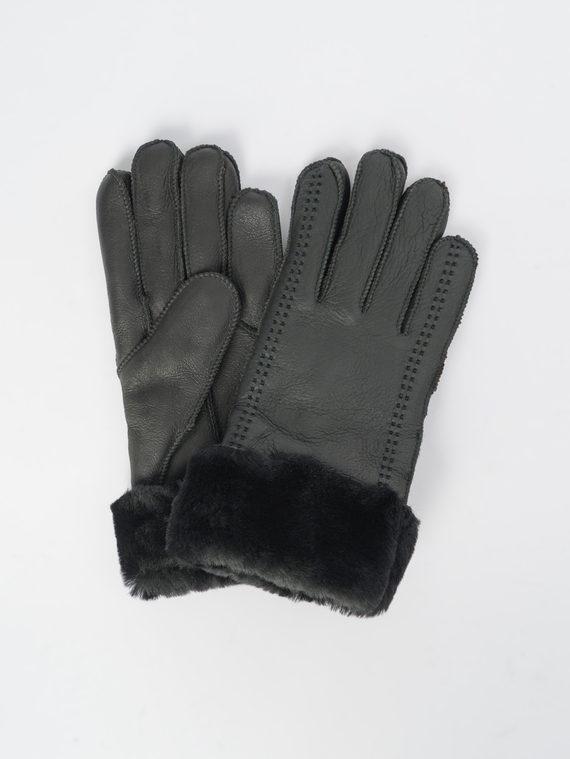 Перчатки дуб. овчина, цвет черный, арт. 18109379  - цена 990 руб.  - магазин TOTOGROUP