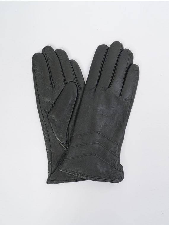 Перчатки кожа, цвет черный, арт. 18109390  - цена 740 руб.  - магазин TOTOGROUP