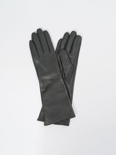 Перчатки кожа, цвет черный, арт. 18109405  - цена 1850 руб.  - магазин TOTOGROUP