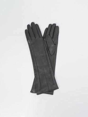 Перчатки кожа, цвет черный, арт. 18109407  - цена 1990 руб.  - магазин TOTOGROUP