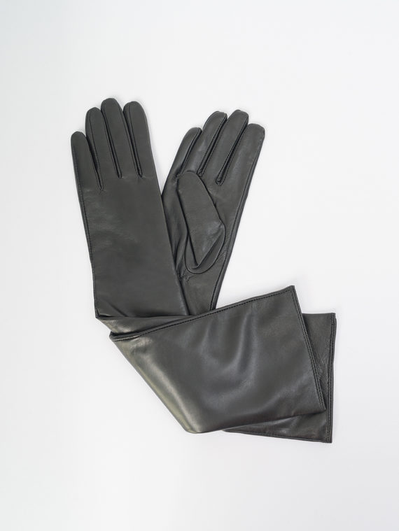 Перчатки кожа, цвет черный, арт. 18109408  - цена 2550 руб.  - магазин TOTOGROUP