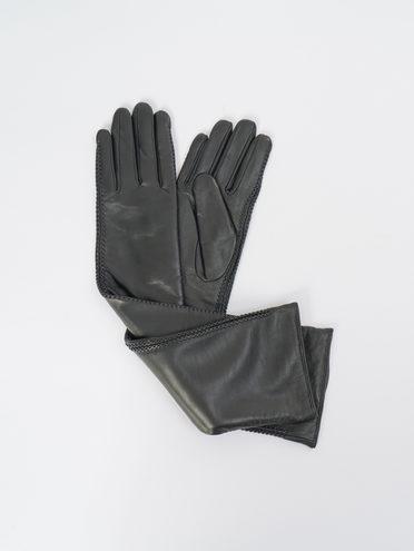 Перчатки кожа, цвет черный, арт. 18109409  - цена 2990 руб.  - магазин TOTOGROUP