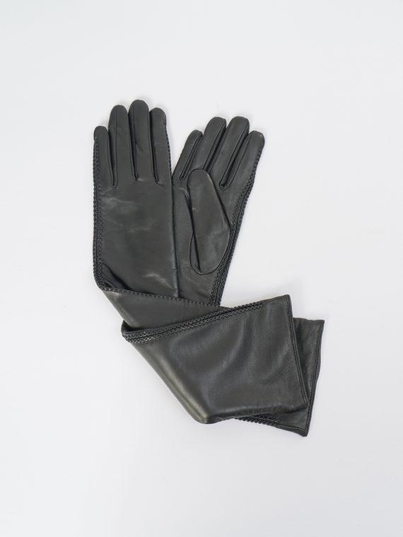 Перчатки кожа, цвет черный, арт. 18109409  - цена 2840 руб.  - магазин TOTOGROUP
