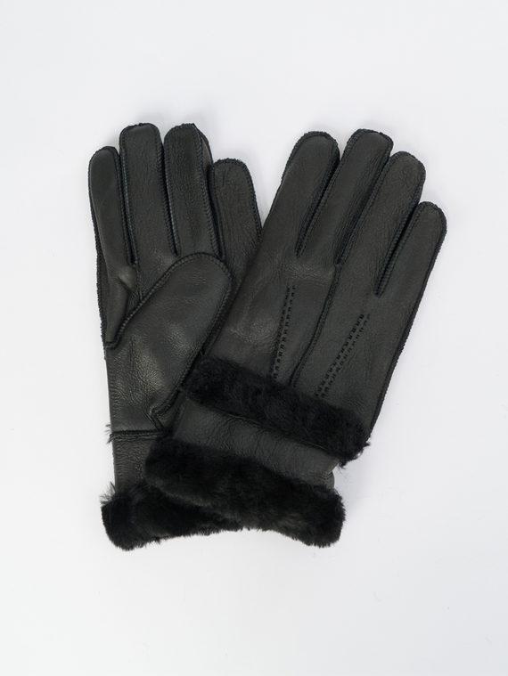 Перчатки дуб. овчина силка, цвет черный, арт. 18109413  - цена 890 руб.  - магазин TOTOGROUP