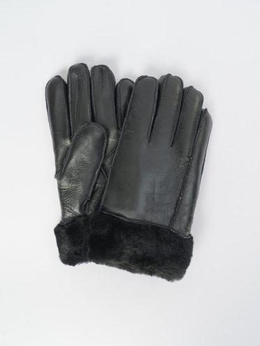 Перчатки дуб. овчина силка, цвет черный, арт. 18109414  - цена 990 руб.  - магазин TOTOGROUP