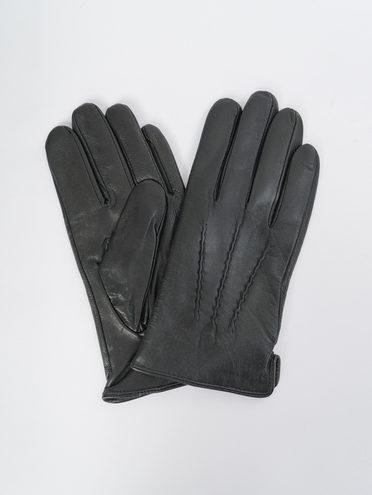 Перчатки кожа коза, цвет черный, арт. 18109416  - цена 1410 руб.  - магазин TOTOGROUP