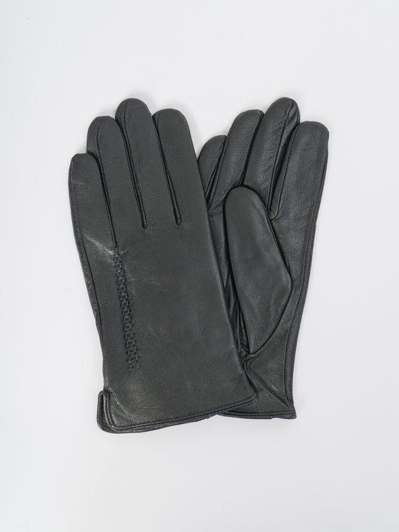 Перчатки кожа коза, цвет черный, арт. 18109417  - цена 1190 руб.  - магазин TOTOGROUP