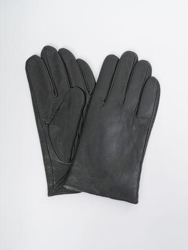 Перчатки кожа коза, цвет черный, арт. 18109418  - цена 1190 руб.  - магазин TOTOGROUP