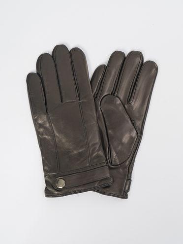Перчатки кожа коза, цвет черный, арт. 18109420  - цена 1850 руб.  - магазин TOTOGROUP