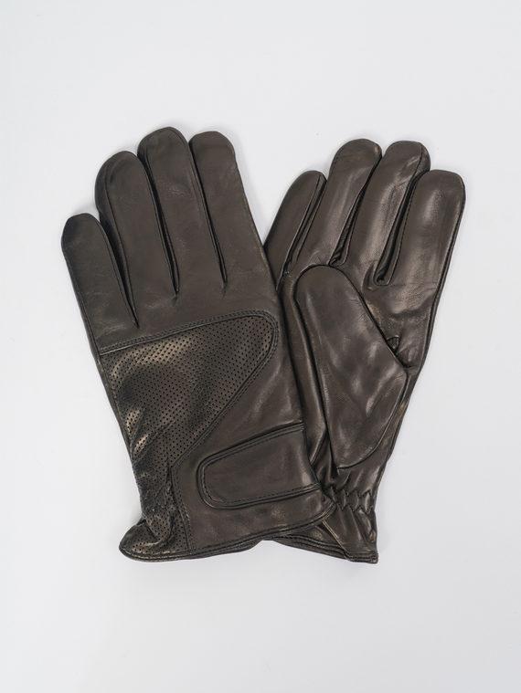 Перчатки кожа коза, цвет черный, арт. 18109423  - цена 1850 руб.  - магазин TOTOGROUP