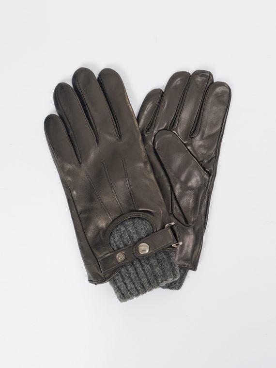 Перчатки кожа коза, цвет черный, арт. 18109424  - цена 1490 руб.  - магазин TOTOGROUP
